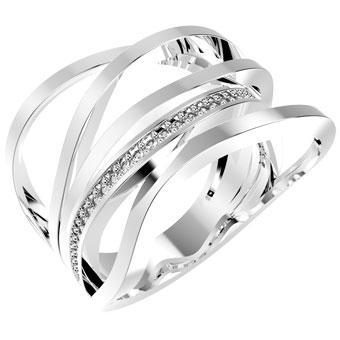 13135P CZ 925 Silver Women's Ring