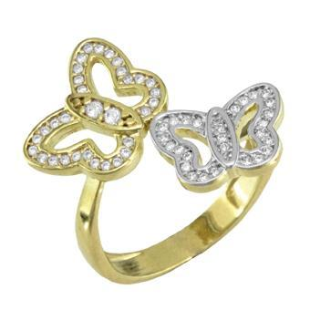 13192 18K Gold Layered CZ Women's Ring
