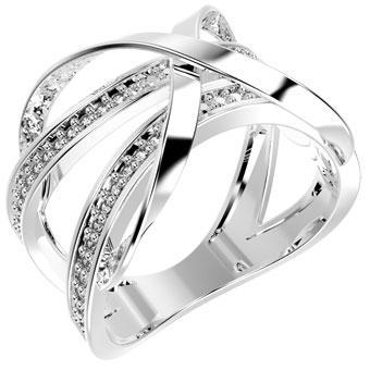 13370P CZ 925 Silver Women's Ring