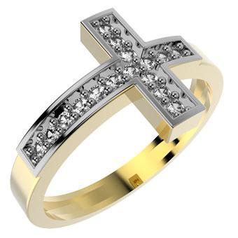 13449 18K Gold Layered CZ Women's Ring