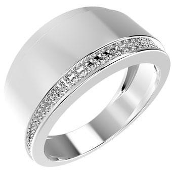 13465P CZ 925 Silver Women's Ring