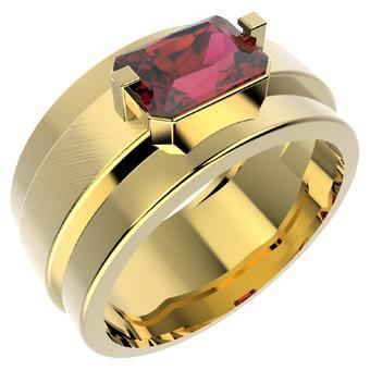 13787 18K Gold Layered CZ Men's Ring