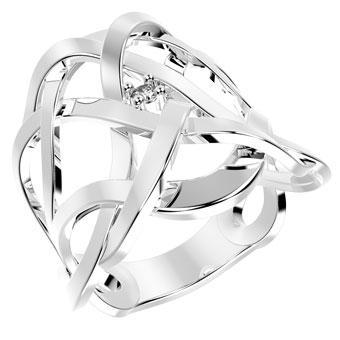 13815P CZ 925 Silver Women's Ring