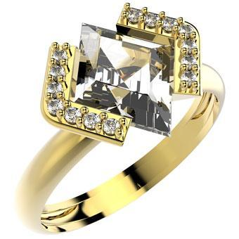 13858 18K Gold Layered CZ Women's Ring