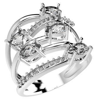 14132P CZ 925 Silver Women's Ring
