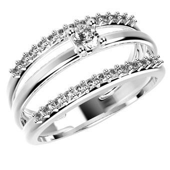 14207P CZ 925 Silver Women's Ring