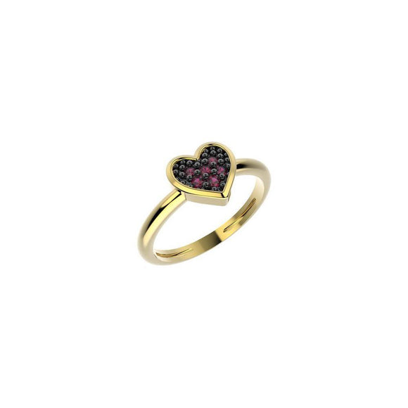 19039 18K Gold Layered CZ Kid's Ring
