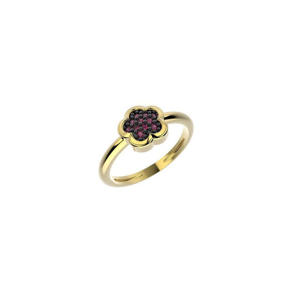 19040 18K Gold Layered CZ Kid's Ring