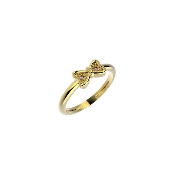19042 18K Gold Layered CZ Kid's Ring
