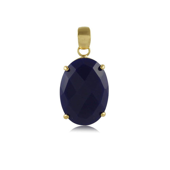 20088R 18K Gold Layered Pendant Royal Blue