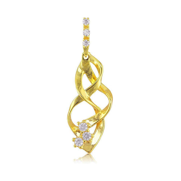 22223 18K Gold Layered CZ Pendant