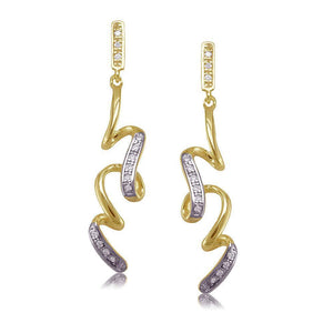 30807 18K Gold Layered CZ Earring