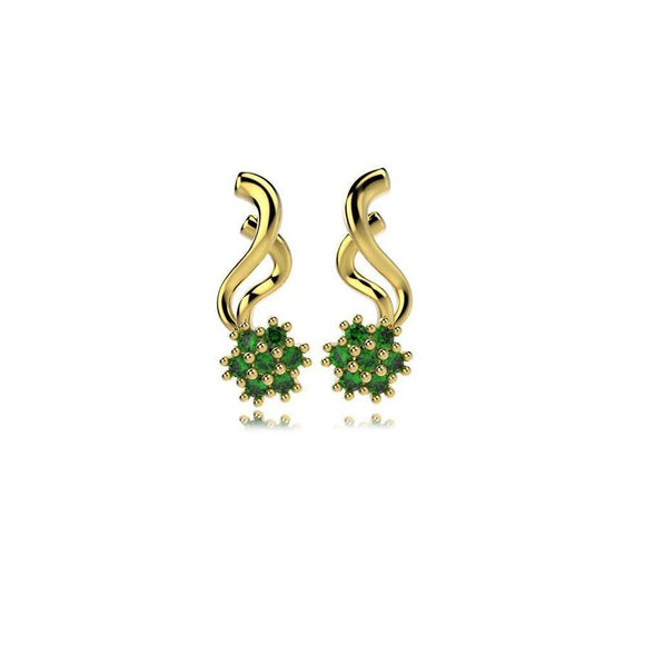 31378 18K Gold Layered CZ Earring