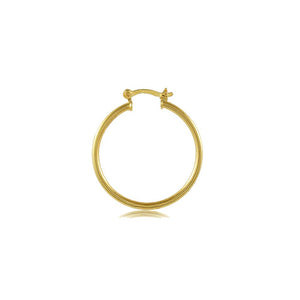35398 18K Gold Layered Hoop Earring