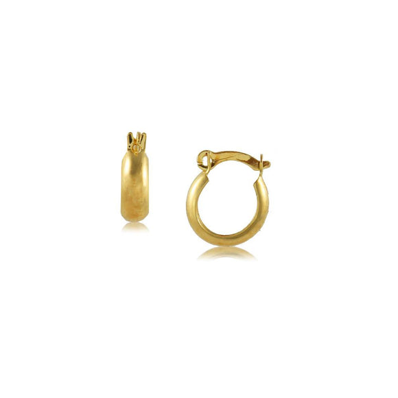 35626 18K Gold Layered Hoop Earring