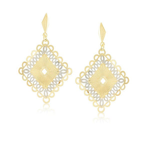 36187 18K Gold Layered Earring