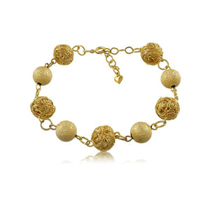 40016R 18K Gold Layered Bracelet 18cm/7in