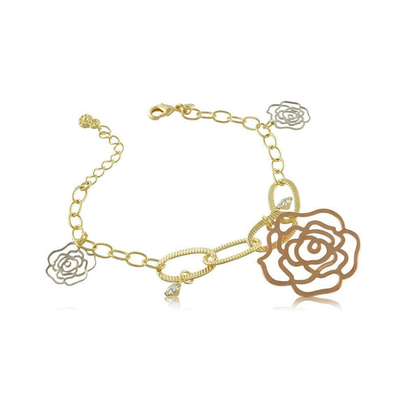 40024R 18K Gold Layered Bracelet 18cm/7in
