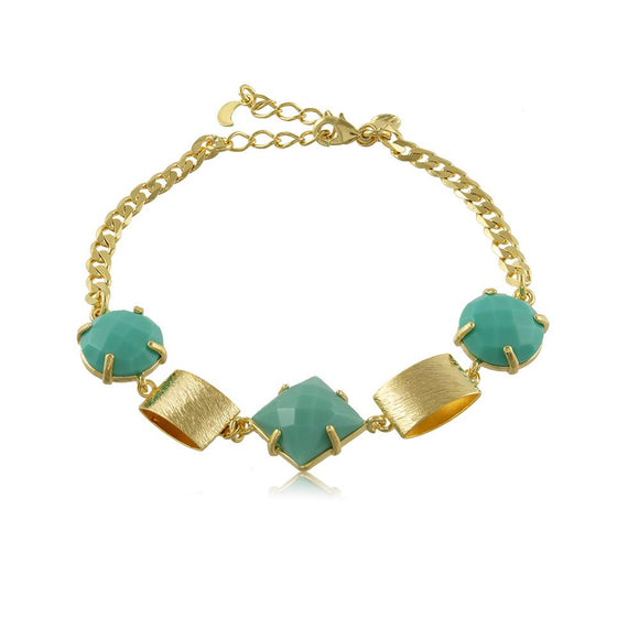 40054R 18K Gold Layered Bracelet 18cm/7in