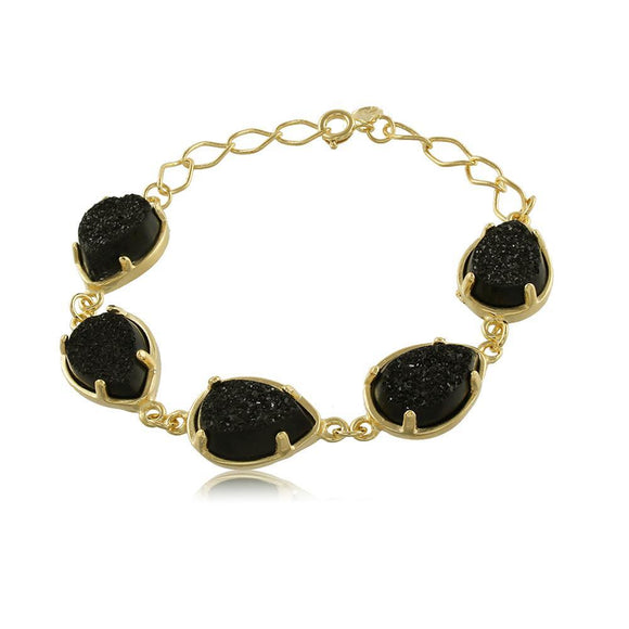 40061R 18K Gold Layered Bracelet 18cm/7in