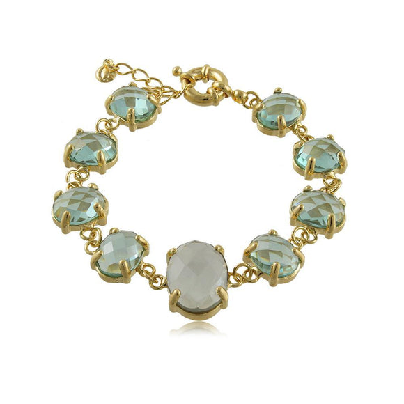 40120R 18K Gold Layered Bracelet 18cm/7in