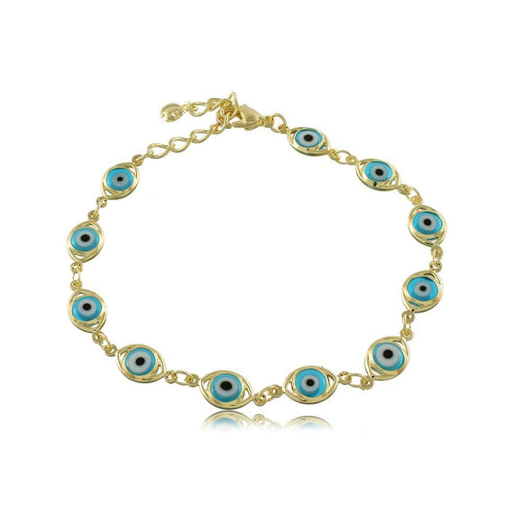 40125R 18K Gold Layered Bracelet 18cm/7in