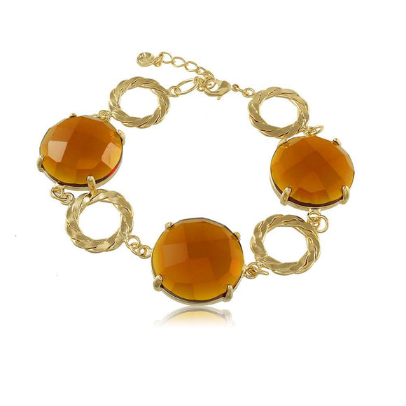 40179R 18K Gold Layered Bracelet 18cm/7in