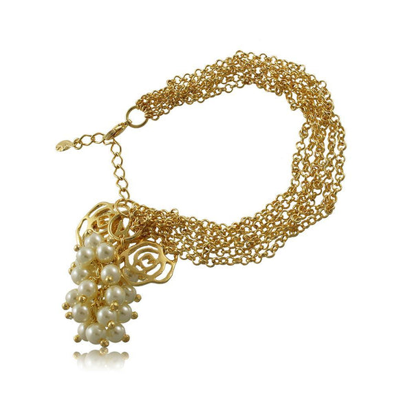 40230R 18K Gold Layered Bracelet 18cm/7in