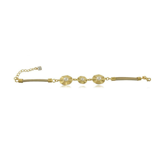 40275R 18K Gold Layered Bracelet 18cm/7in