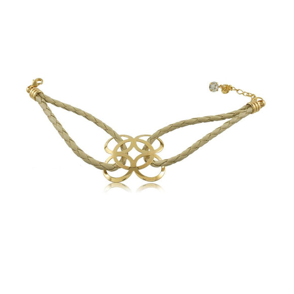 40277R 18K Gold Layered Bracelet 18cm/7in
