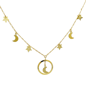 46162 18K Gold Layered Necklace