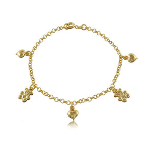 56071 18K Gold Layered -Bracelet 18cm/7in