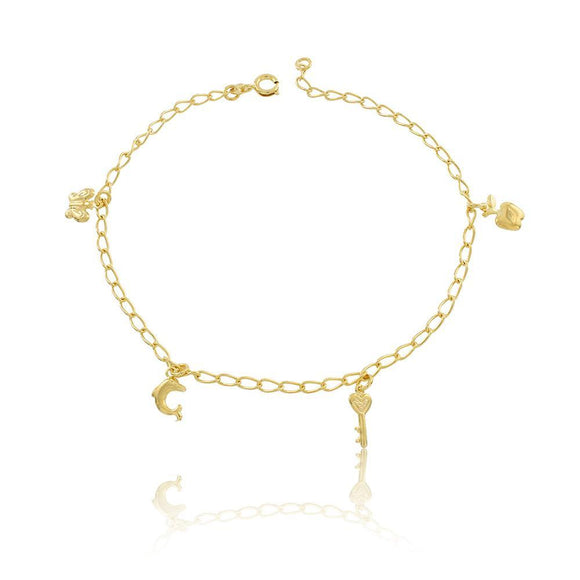 58000 18K Gold Layered Anklet 25cm/10in