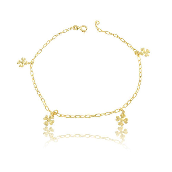 58001 18K Gold Layered Anklet 25cm/10in