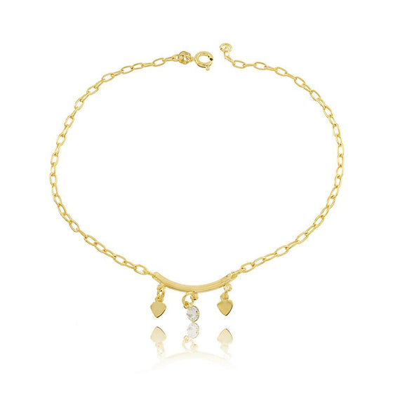 58003 18K Gold Layered Anklet 25cm/10in
