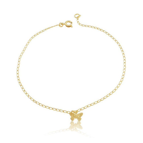 58005 18K Gold Layered Anklet 25cm/10in