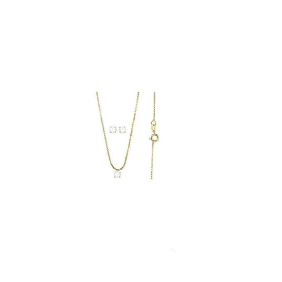 71565 18K Gold Layered CZ Set