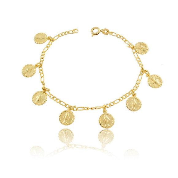 86044 18K Gold Layered Bracelet 18cm/7in
