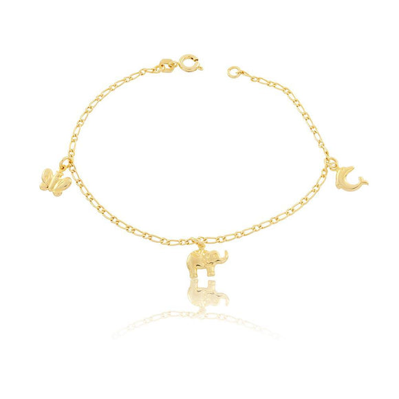 86045 18K Gold Layered Bracelet 18cm/7in