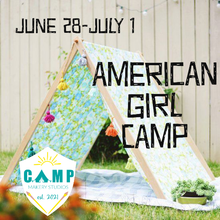Load image into Gallery viewer, American Girl Camping