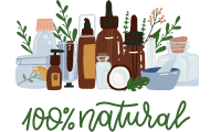 100% all natural ingredients products