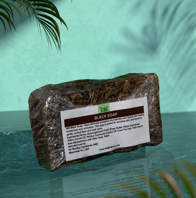 Handmade Black Body Soap with a Blend of Oils, Vitamins and Jamaican Black Castor Oil - NBI All Natural