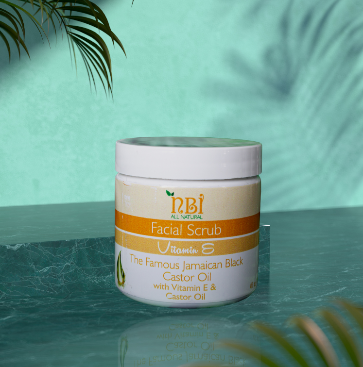 Facial Scrub with Blend of Sugar, Salt, Organic Oils and Vitamins - NBI All Natural