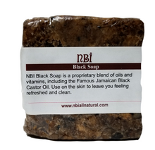 Load image into Gallery viewer, Handmade Black Body Soap with a Blend of Oils, Vitamins and Jamaican Black Castor Oil - NBI All Natural