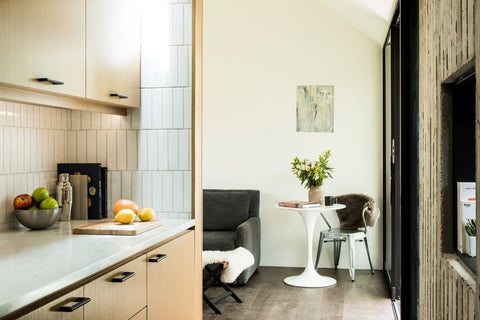 Small living room and kitchen