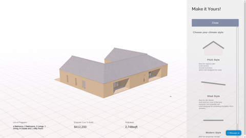 Roof style design software
