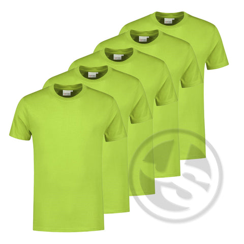 T-Shirt 5-Pack - Limegroen