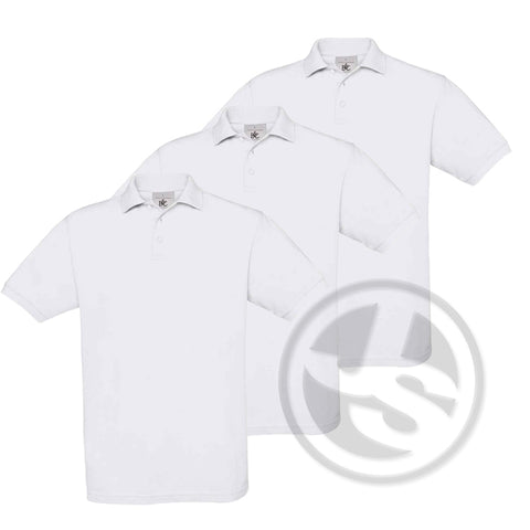 Poloshirt 3-Pack - Wit