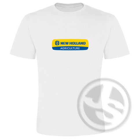 T-shirt New Holland Wit Groot