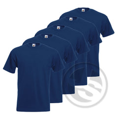 T-Shirt 5-Pack - Marineblauw